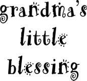 Petite conception de bénédiction de grand-mamans illustration de vecteur