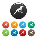 Petite couleur d'ensemble d'icônes de pie illustration stock