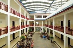 Petite cour de MingShan Chine-Le dans l'agritainment Image libre de droits