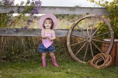 Petite cow-girl photographie stock libre de droits