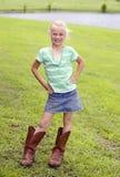 Petite cow-girl mignonne image stock