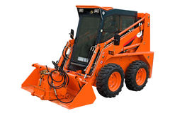 Petite excavatrice orange Images libres de droits