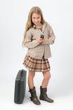 Petite femme d'affaires de Texting image stock