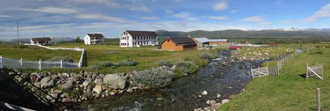 Petite ferme en Norvège images libres de droits