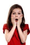 Petite fille étonnée Images stock