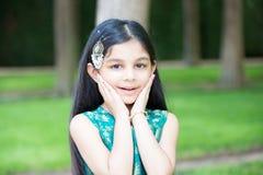 Petite fille étonnée Photographie stock libre de droits