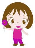 Petite fille illustration libre de droits