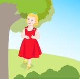Petite fille 2 de marche Image libre de droits