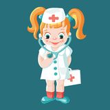 Petite fille illustration de vecteur