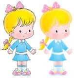 Petite fille illustration stock