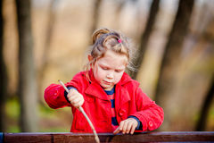 Petite fille adorable d'enfant en bas âge Images stock