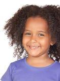 Petite fille africaine adorable Photographie stock libre de droits