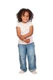 Petite fille africaine adorable avec le beau hairst Photographie stock libre de droits