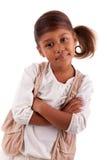 Petite fille asiatique africaine mignonne Photo stock