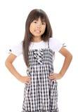 Petite fille asiatique mignonne Image libre de droits