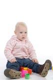 Petite fille avec des jouets Image libre de droits