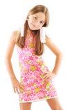 Petite fille avec des proues Image libre de droits