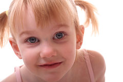 Petite fille avec des tresses Images libres de droits