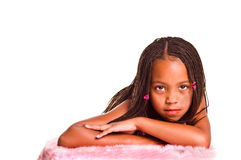 Petite fille avec des tresses Image libre de droits