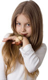 Petite fille avec du charme photo libre de droits