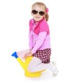 Petite fille avec du charme photographie stock