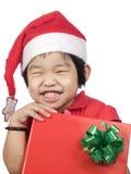 Petite fille avec Gift2 Photographie stock libre de droits
