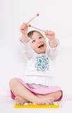 Petite fille avec l'instrument images libres de droits