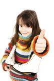 Petite fille avec la figure patins Photos libres de droits