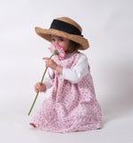 Petite fille avec la fleur Image libre de droits