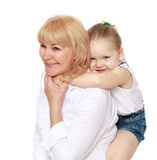 Petite-fille avec la grand-mère Photo libre de droits