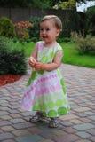 Petite fille avec le bijou Image stock