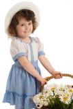 Petite fille avec le capot Image stock