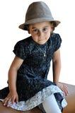 Petite fille avec le chapeau Images libres de droits