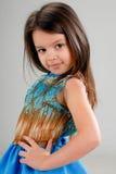 Petite fille avec le cheveu brun image libre de droits