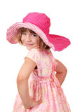 Petite fille avec le grand chapeau Photos libres de droits