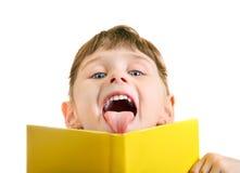 Petite fille avec le livre image libre de droits