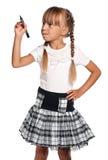 Petite fille avec le repère Image libre de droits