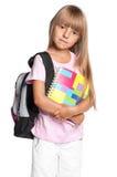 Petite fille avec le sac à dos Image libre de droits