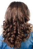 Petite fille avec les cheveux parfaits de boucle de coiffure photos libres de droits