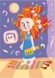 Petite fille avec les poils rouges illustration libre de droits