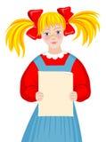 Petite fille blonde Photos libres de droits