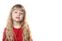 Petite fille bouleversée photos stock