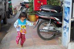 Petite fille cambodgienne Images libres de droits