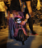 Petite fille, Catrina Parade, Mexique Photo libre de droits