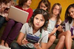 Petite fille choquée Images libres de droits