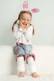 Petite fille comme lapin de Pâques Photographie stock libre de droits