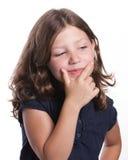 Petite fille curieuse Image stock