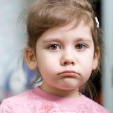 Petite fille déçue Images libres de droits