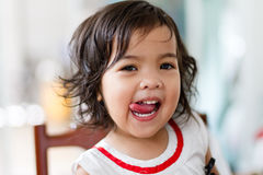 Petite fille délicieuse Images libres de droits