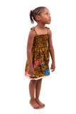 Petite fille d'afro-américain d'isolement sur le fond blanc Photo libre de droits
